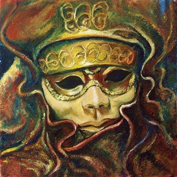 Obra de arte m scara del carnaval de venecia 2 artistas - Mascaras de carnaval de venecia ...