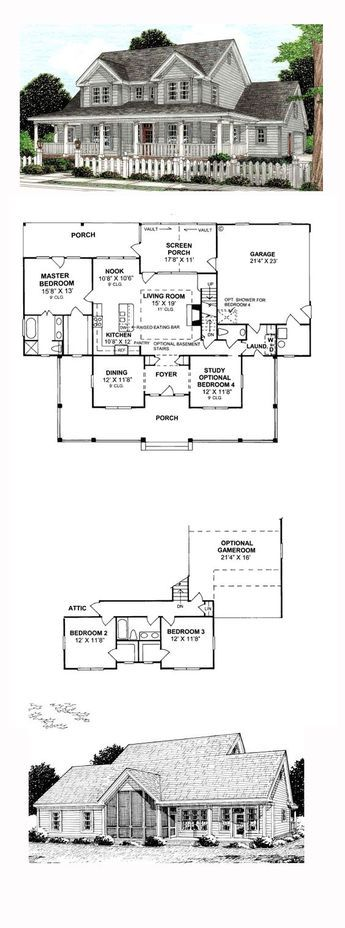Country House Plan 68178 Total Living Area 1980 Sq Ft