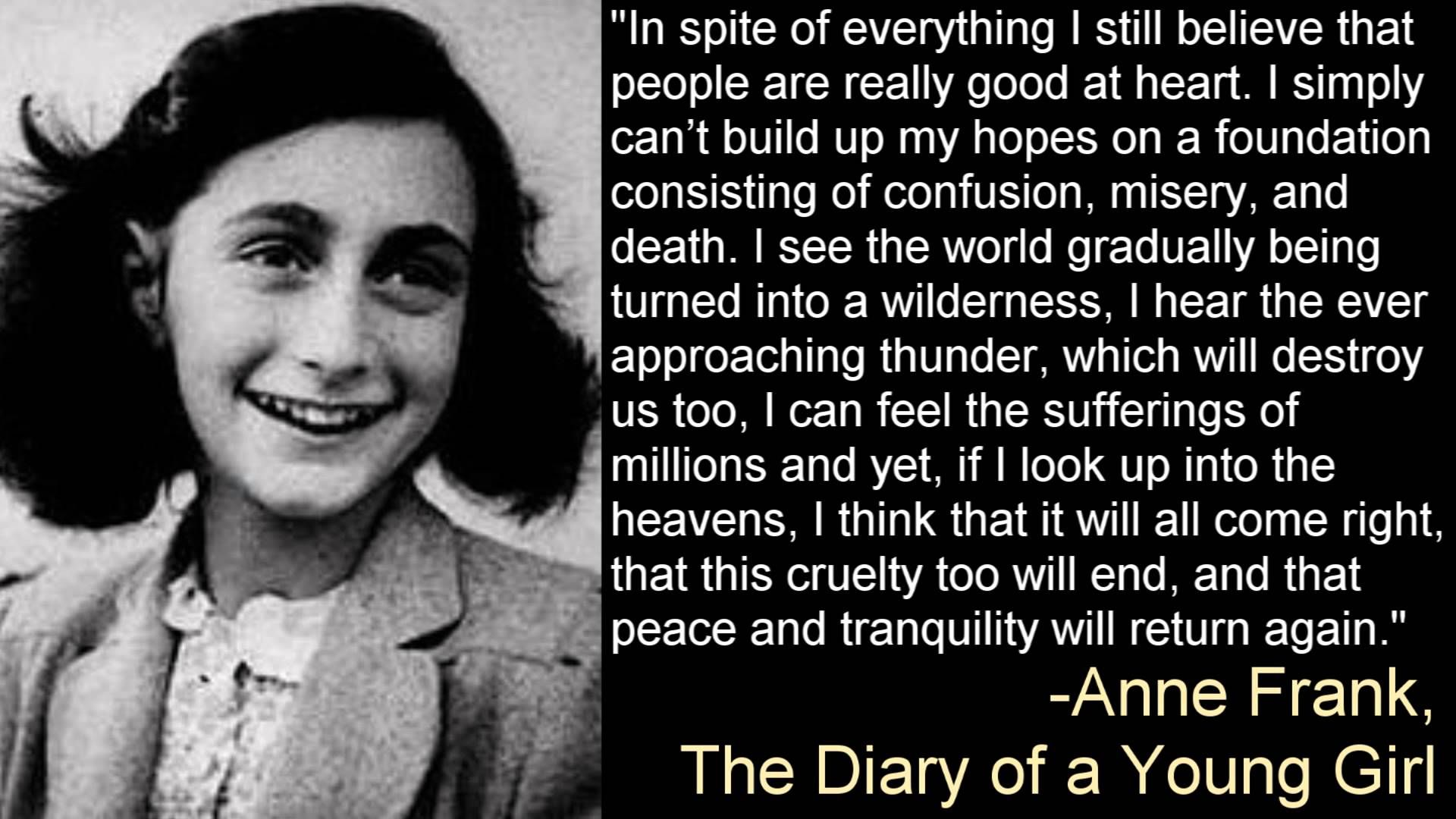 Holocaust Survivor Quotes A Girl's View Of The Holocaust An Open Letter To Anne Frank