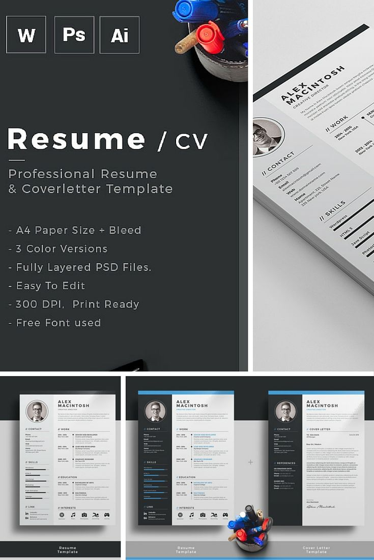 Resume/CV | Professional resume template, Professional resume and ...