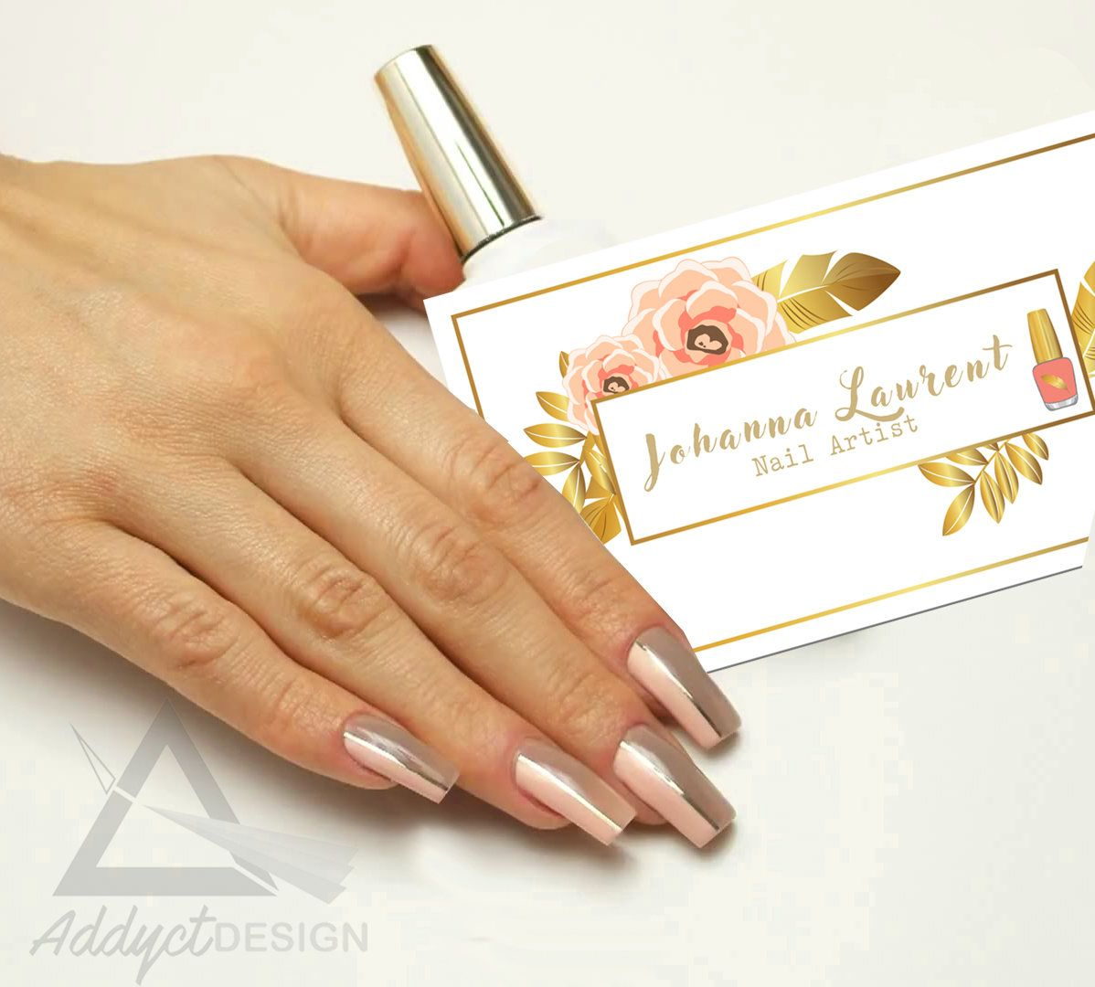 Nail Artist Business card, Stationery, gel nails, Manicure, Salon ...