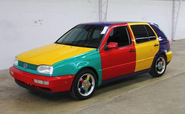 Rare Factory Art Car 1996 Volkswagen Golf Harlequin Volkswagen