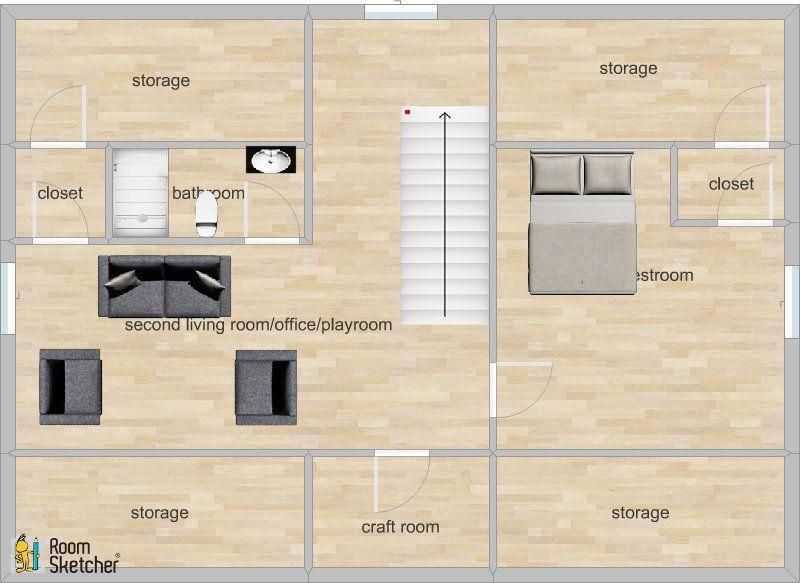 Roomsketcher Home Designer Colonial Revival Attic Playroom