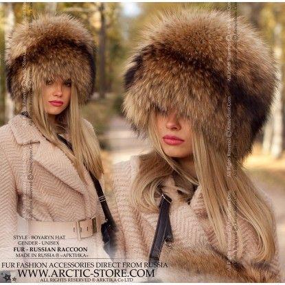 Boyaryn Luxe Russian Raccoon Hat Fur Hat Russian Style Hat Russian Hat