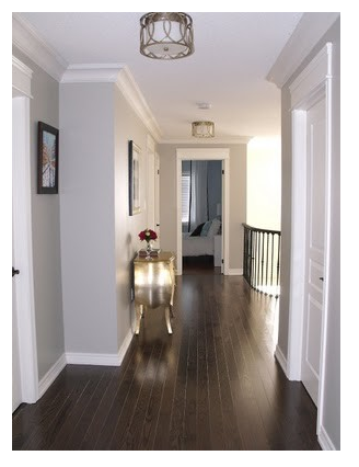 Dark Wood Floors With Light Gray Walls Grey Wall Color Home