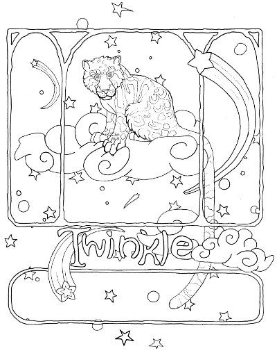 Clouded Leopard Coloring Page For Adults Adult Coloring Pages