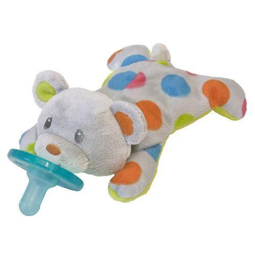 Mary Meyer Wubbanub Confetti Teddyy Plush Pacifier Soothie Holder