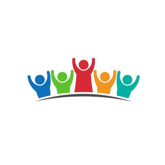 Teacher Parent With Students Children Logo Clip Art Concept For A