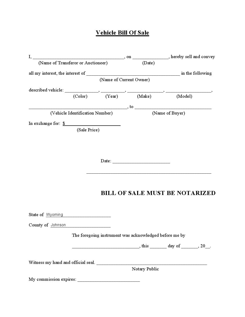 Automobile Bill Of Sale Kansas Cover Resume Bills Sale Motor Car