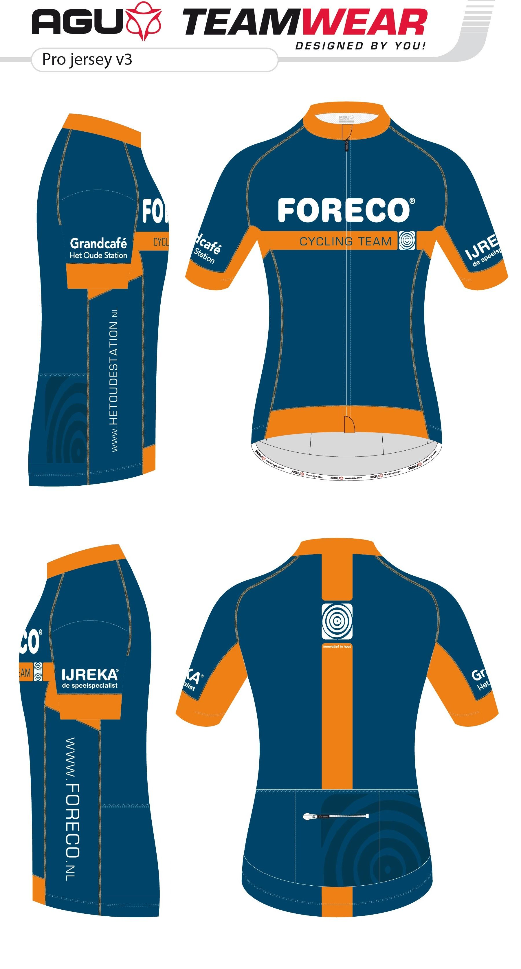 70f5b5b56 DESIGN YOUR OWN cycling jersey by AGU // Customized Cycling Apparel,  designed for Foreco, Dalfsen (The Netherlands). Interested ->  teamwear@agu.nl