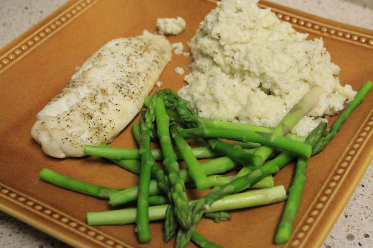 Baked Tilapia, Steamed Asparagus, and a Cauliflower Mash – Charleston Crafted