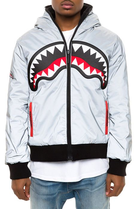 The 3M Shark Reversible Jacket in Silver   My Kind of Style ... 040f80283a