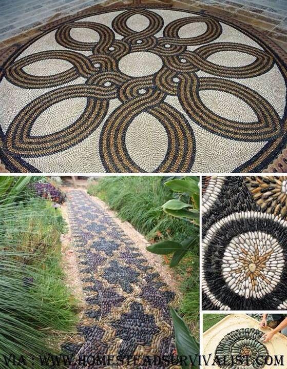 Dise os con piedras patios jardines paisajismo for La bioguia jardines