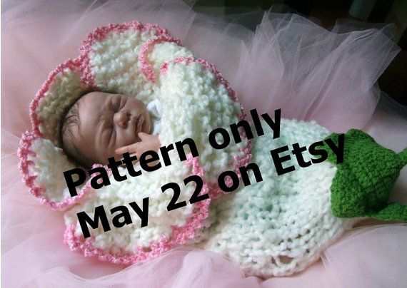 FLOWER cocoon PDF PATTERN knit knitting Instant download Original ...