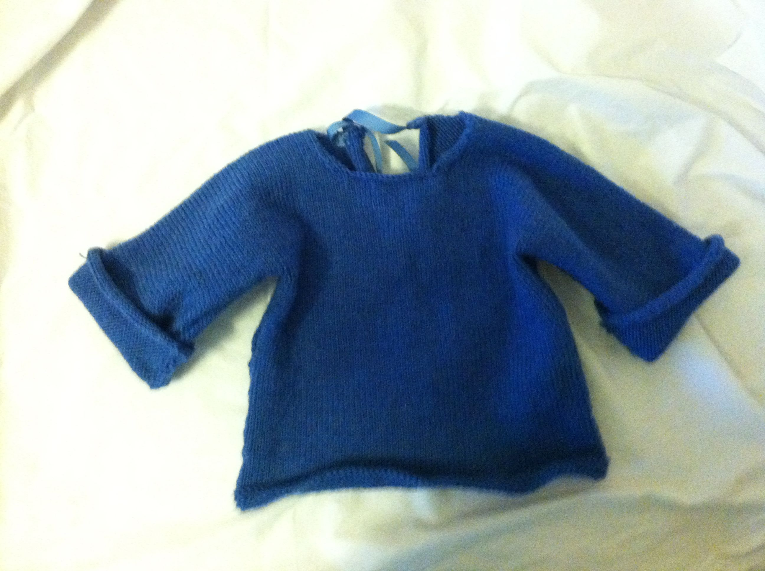 4fadb8f42fef64 Knit Baby sweater. Pattern from simple knits for cherished babies by Erika  knight.