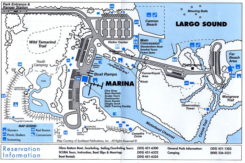 john pennekamp campground map large jpg 800a—532 pixels kayak
