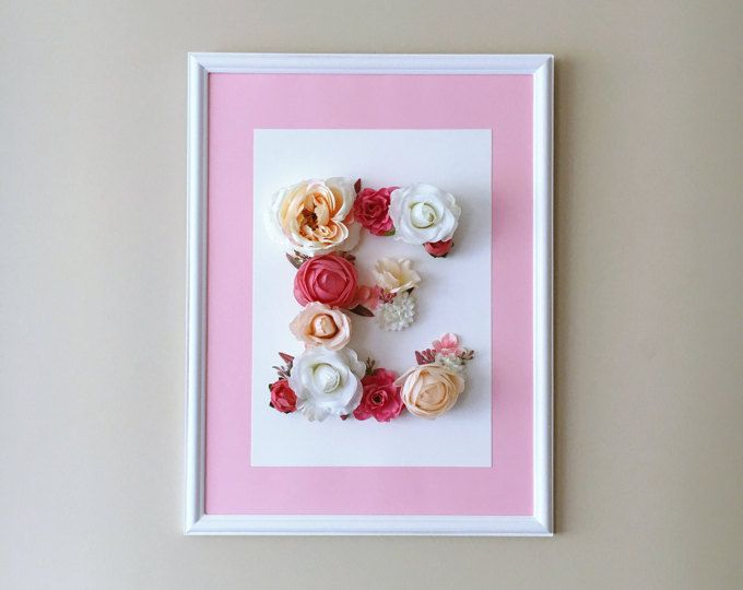 Buchstabe E versandfertig, Wand Blume Buchstaben