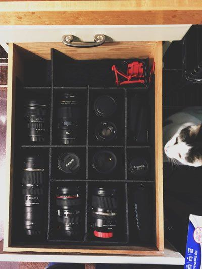 Camera Equipment Storage Old Shelf Converted Into Easy