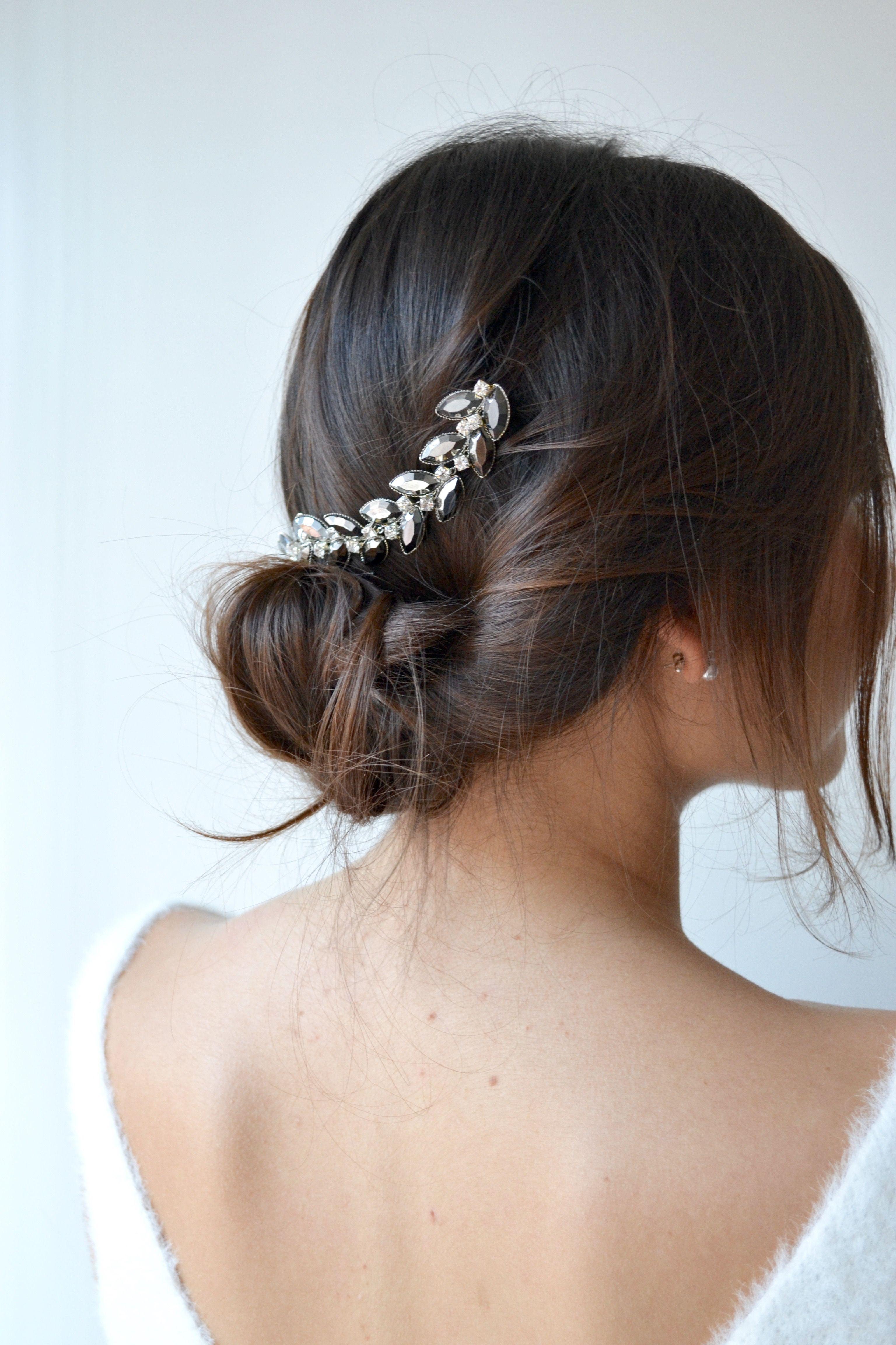 coiffure mariage pics chignon de perles cheveux de mari e bijoux de t te pour fianc es. Black Bedroom Furniture Sets. Home Design Ideas