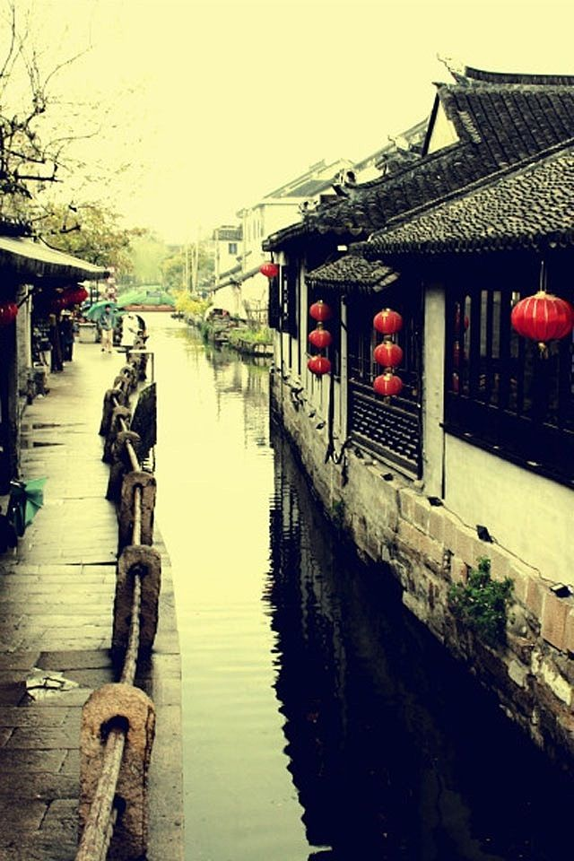 I love this iPhone Screen Wallpaper HD Chinese old town!
