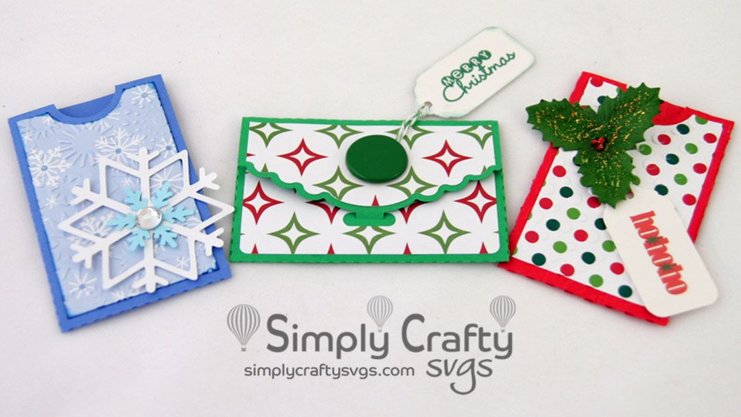 Gift card folder and sleeve svg file simply crafty svgs