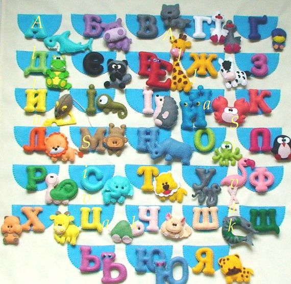 Training poster, Alphabet, Felt Alphabet Poster, ABC
