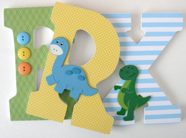 Blue, Yellow, and Green Wooden Letters | LetterLuxe Wooden Letters ...