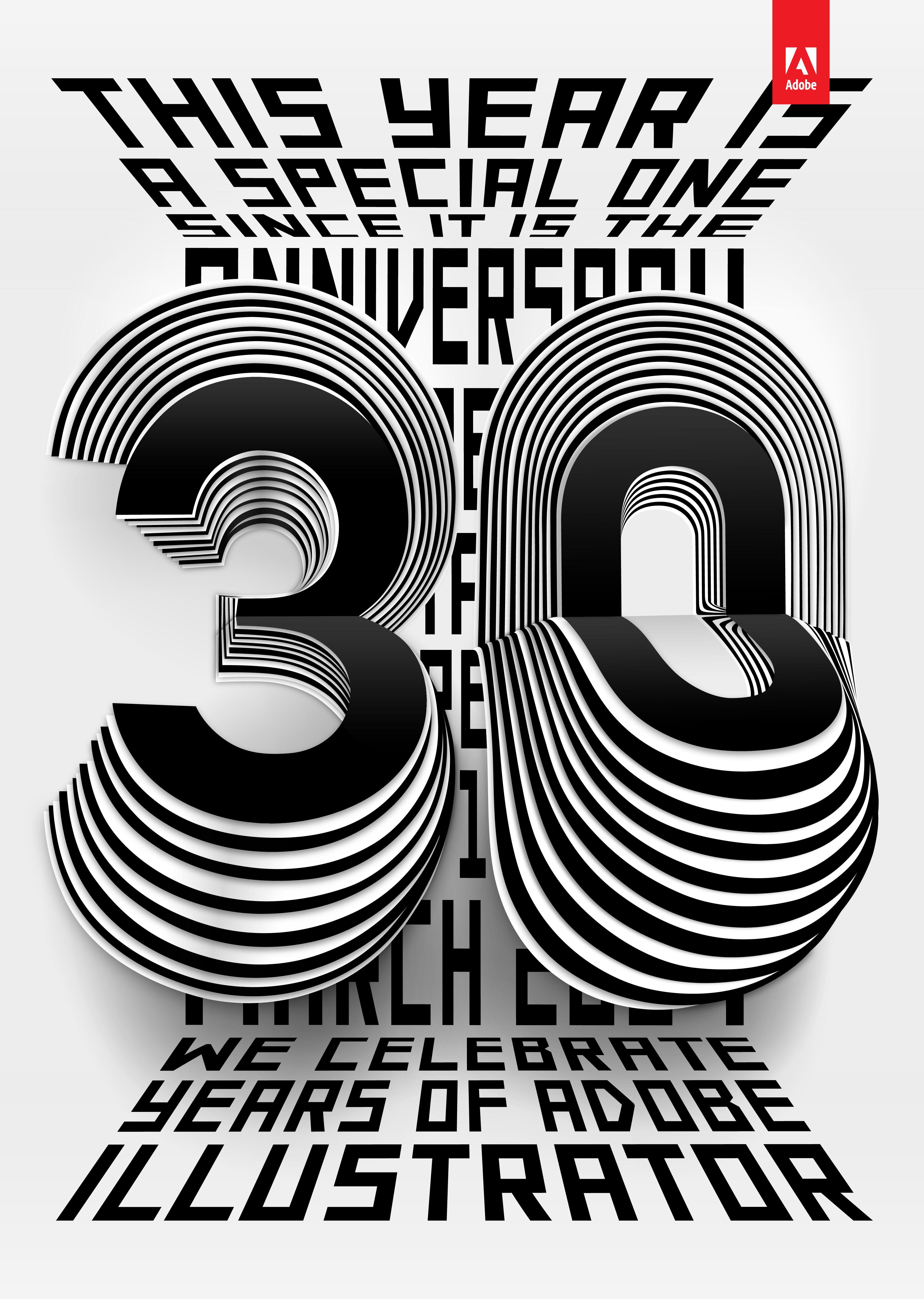 Poster design adobe illustrator - 30 Years Of Adobe Illustrator On Behance