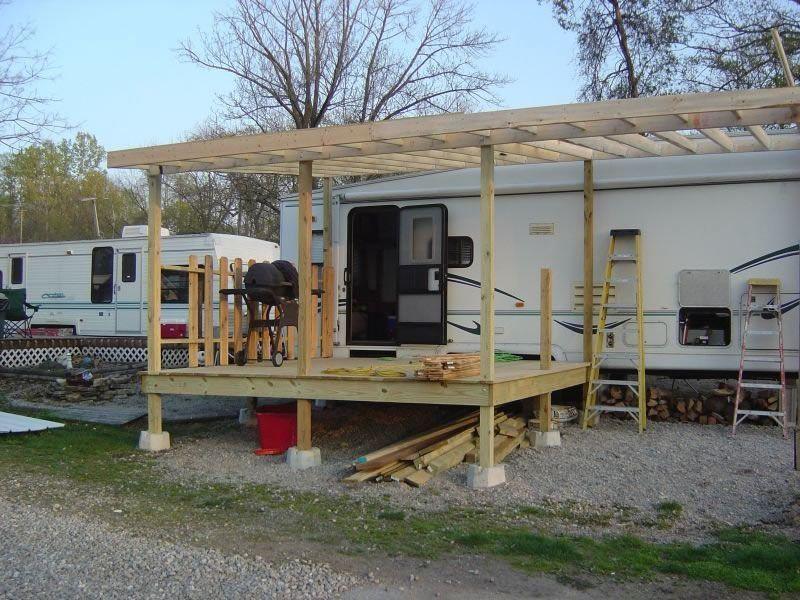 Deck Our Camper Best Truck Camper Building A Deck Camper