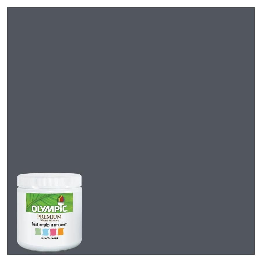 Olympic 8 Oz Gray Flannel Interior Satin Paint Sample At Lowes