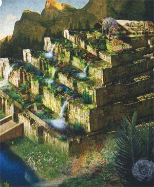 Hängende Gärten Der Semiramis In Babylon Google Suche Gärten