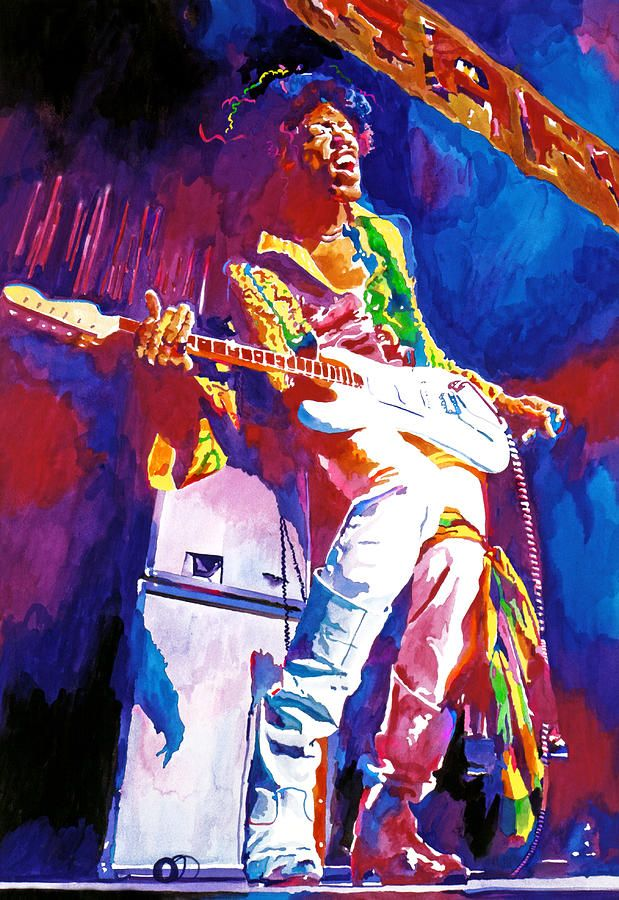 Paintings Devoted Jimi Hendrix Painting Mix Media Signed By Artist