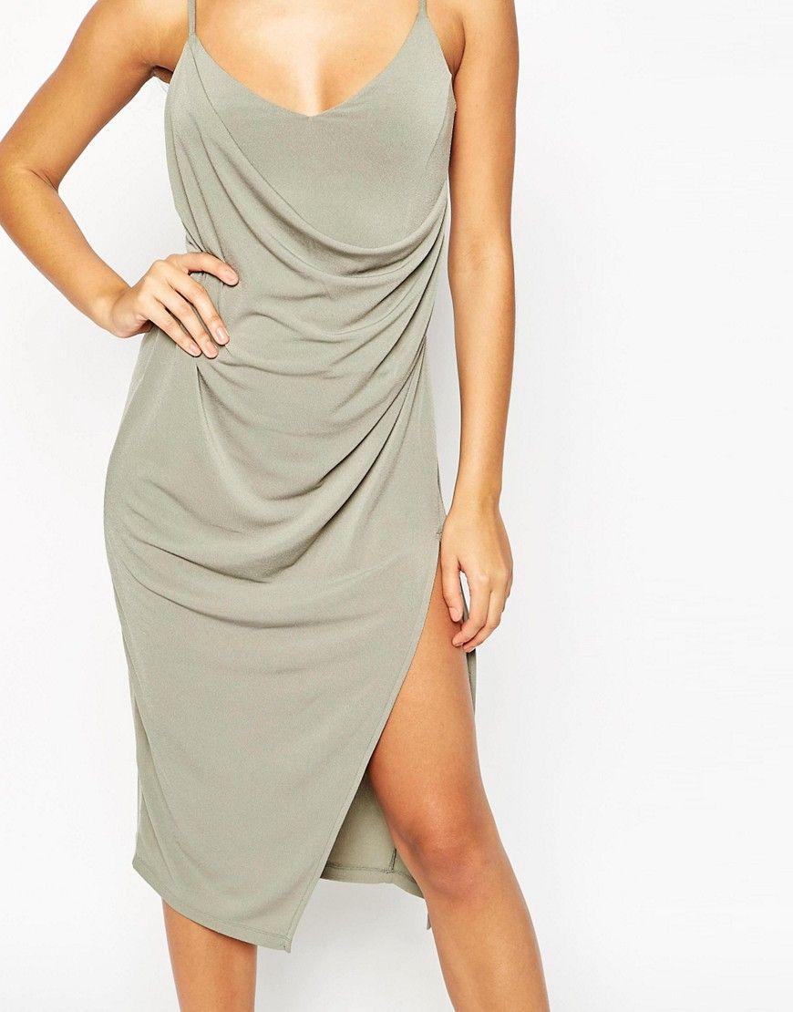 c49b653cb060 Image 3 of ASOS Crepe Wrap Midi Slip Dress   Asos in 2019   Dresses ...