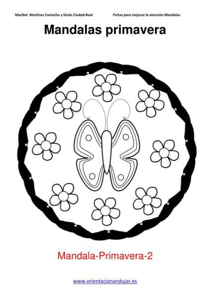 MANDALAS COLOREAR PRIMAVERA IMPRIMIBLE 2 | WIOSNA | Pinterest