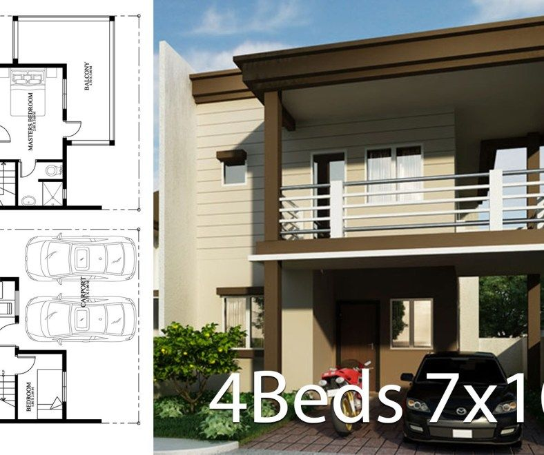 Home Design Plan 8x13m With 4 Bedrooms Home Design With Plan Home Design Plan House Design Model Homes