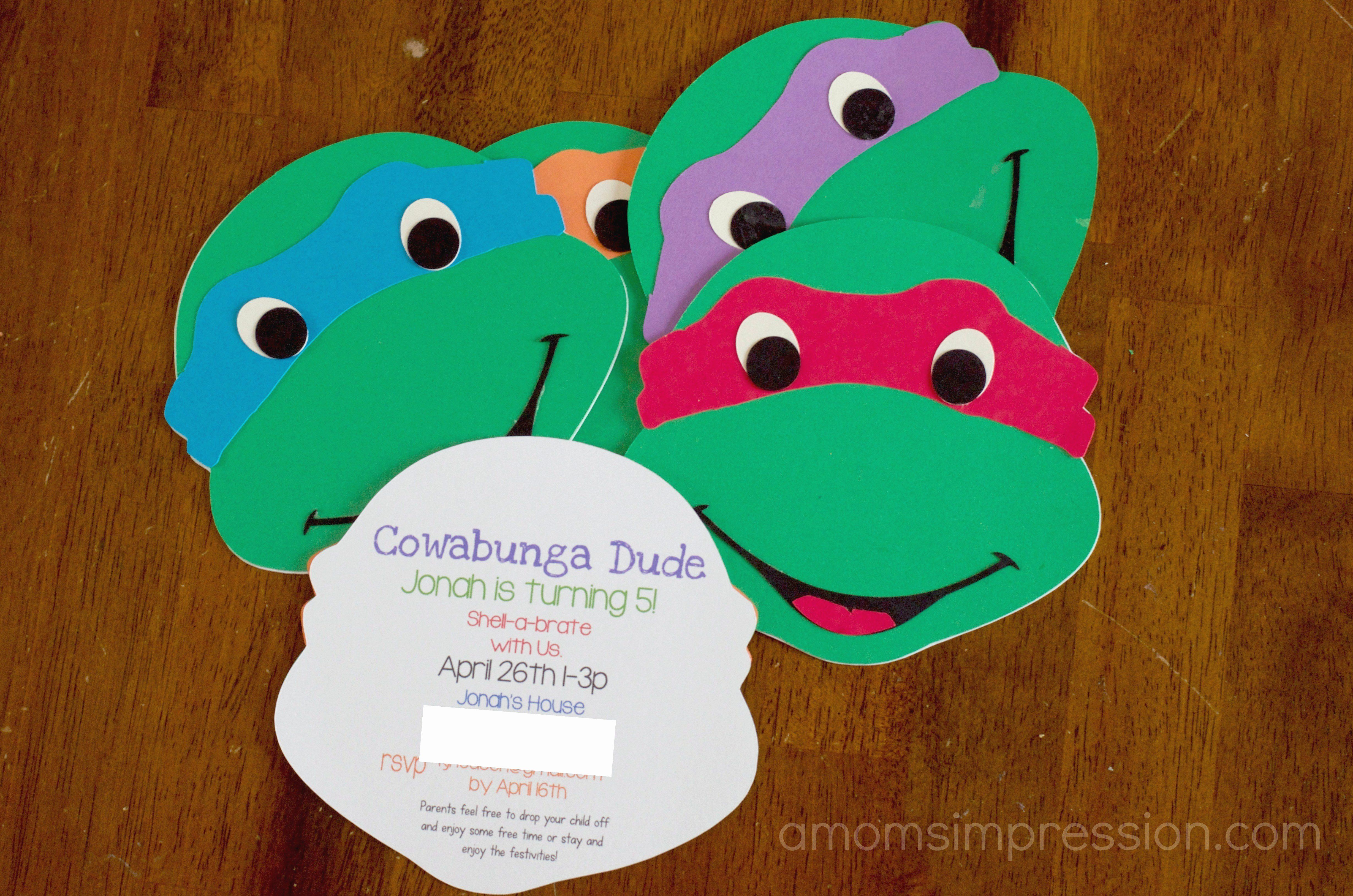 Photo of Turtle Geburtstagskarten Awesome 98 Ninja Turtle Geburtstagseinladungen Line Turtle F …