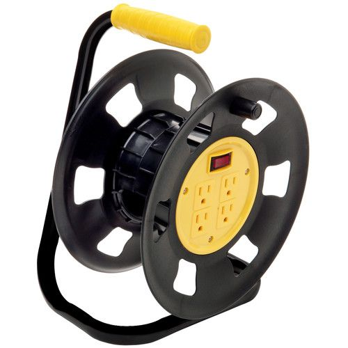 Found it at Wayfair - 4 Outlets Retractable Extension Cord Reel