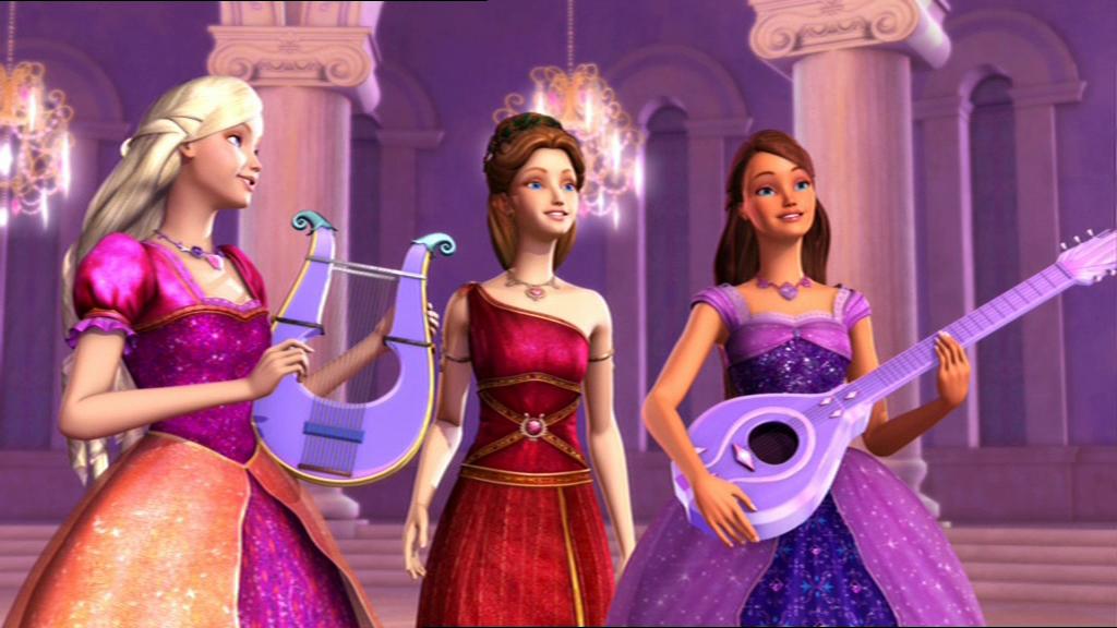 Barbie And The Diamond Castle Photo Liana Alexa And Melody Barbie Movies Barbie Princess Barbie Dress