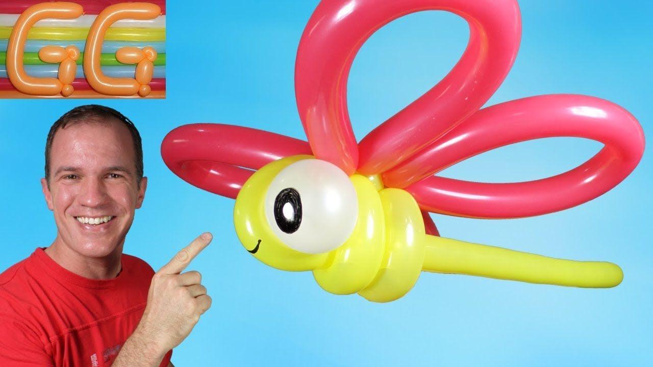 libelula con globos globoflexia facil como hacer figuras con