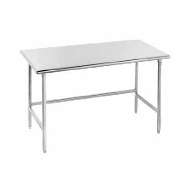 advance tabco tmslag 243 x work table 24 wide top without splash rh pinterest com