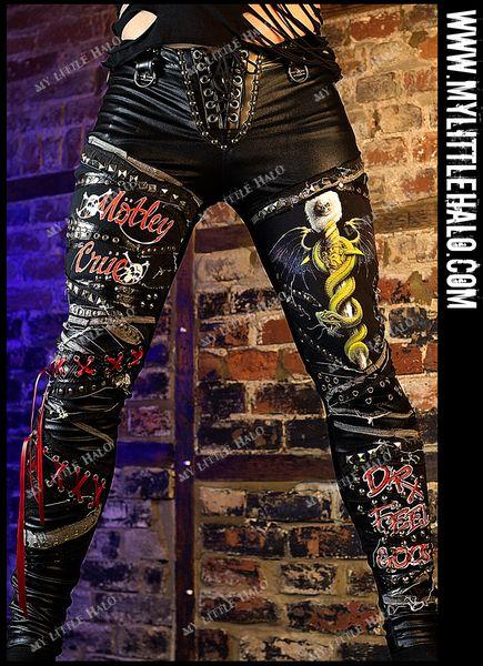 Mens Motley Crue Studded Pants