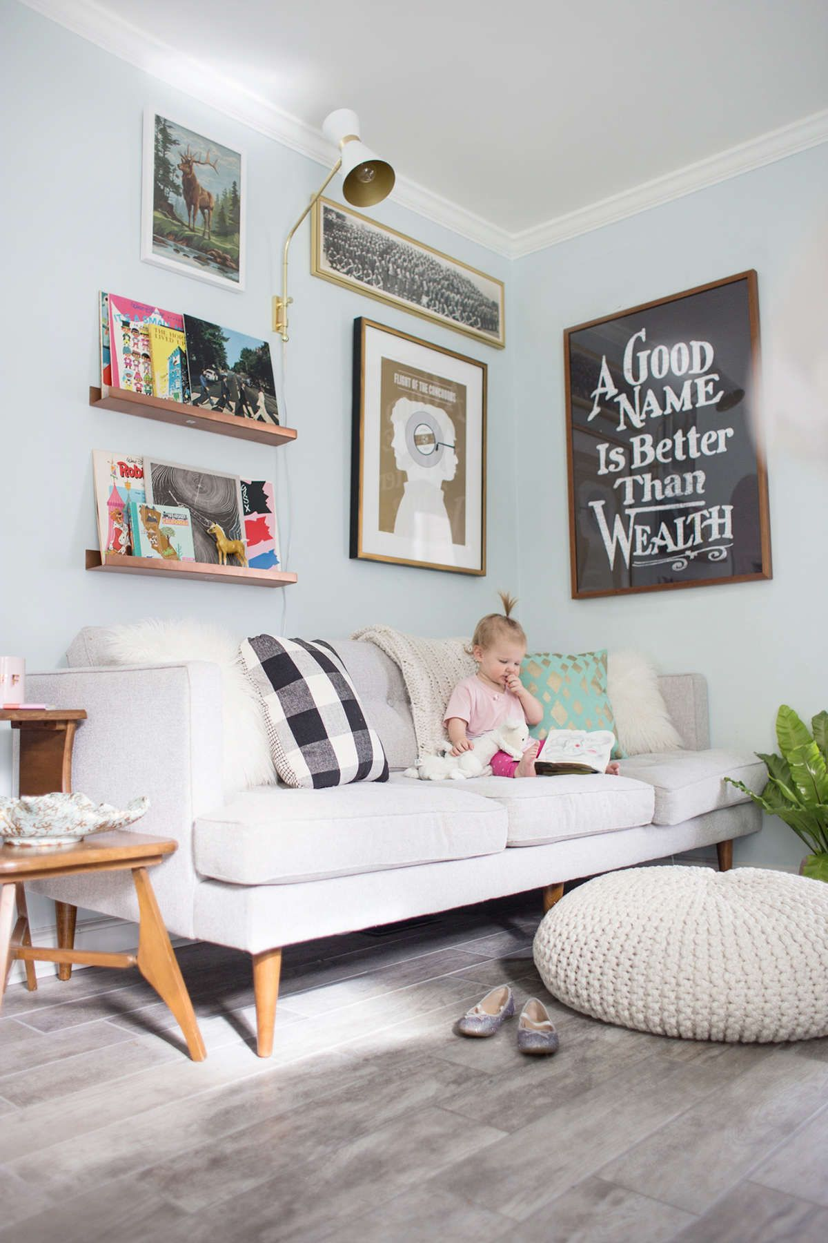 A Living Room With Kids | Playroom | Family room design ...