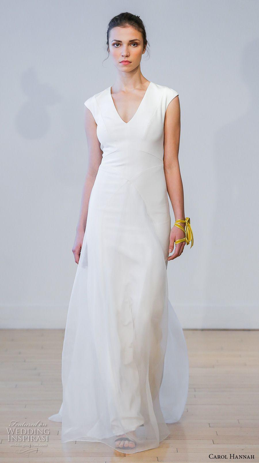 Simple elegant wedding dress designers  Carol Hannah  Wedding Dresses u ucBotanicaud Bridal Collection
