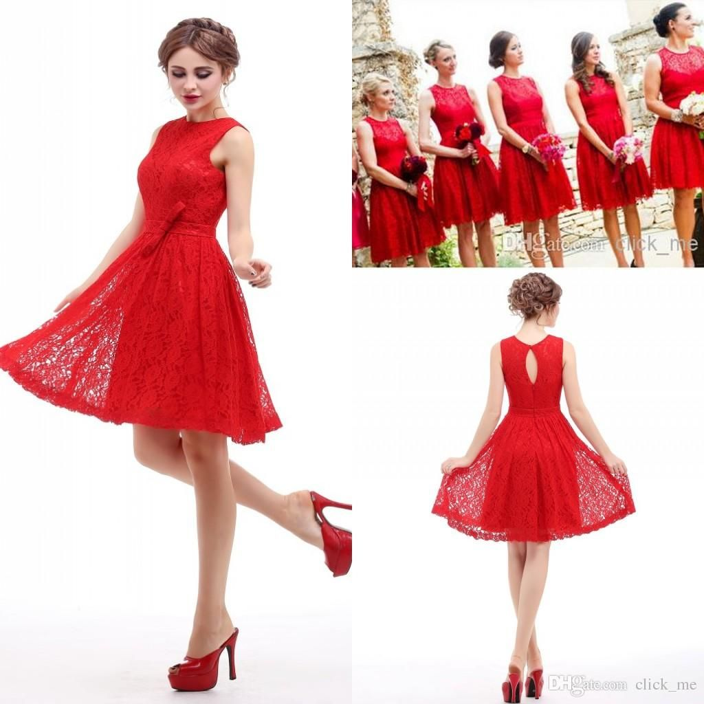 Cheap real image red short bridesmaid dresses under 50 jewel cheap real image red short bridesmaid dresses under 50 jewel hollow and zipper lace bridesmaid dresses cheap sash bow plus size party gown as low as 6103 ombrellifo Images