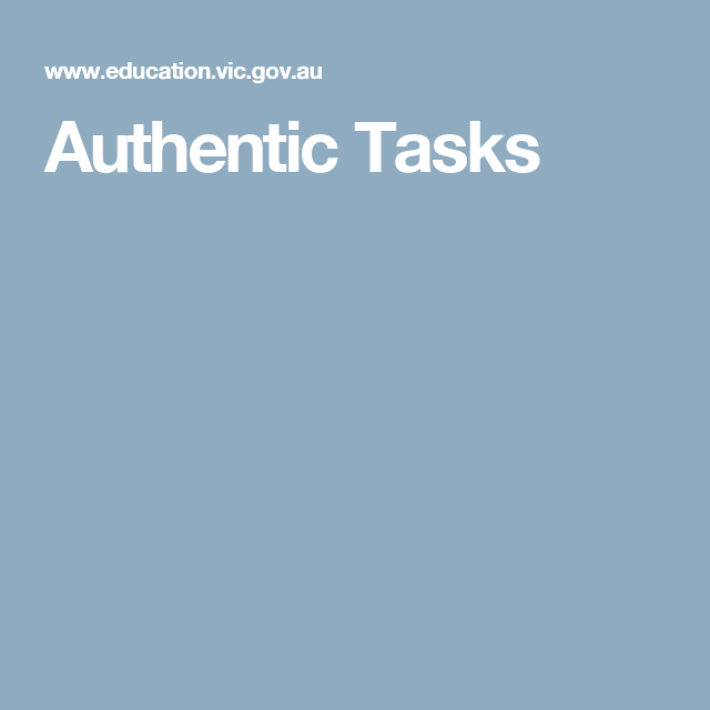 Authentic Tasks | Internship | Pinterest | Numeracy, Scaffolding and ...