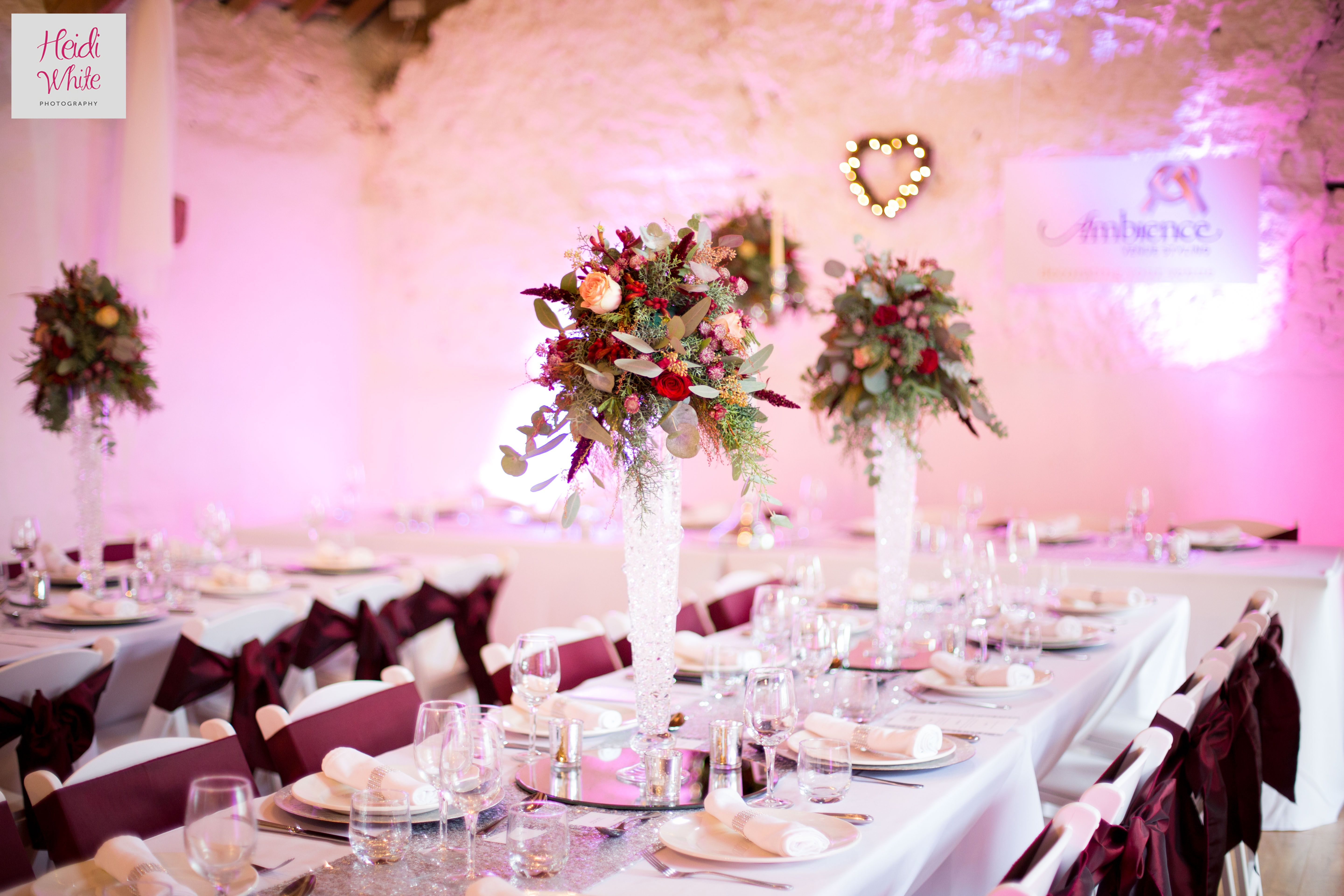 We love the table decor at this wedding! Captured at The Old Barn ...