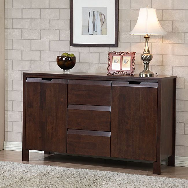 Combine sleek style and functionality with this two-door wood buffet ...
