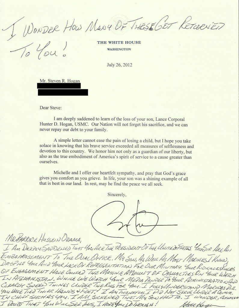 Sunday Images   Condolence Letter Condolences And Obama