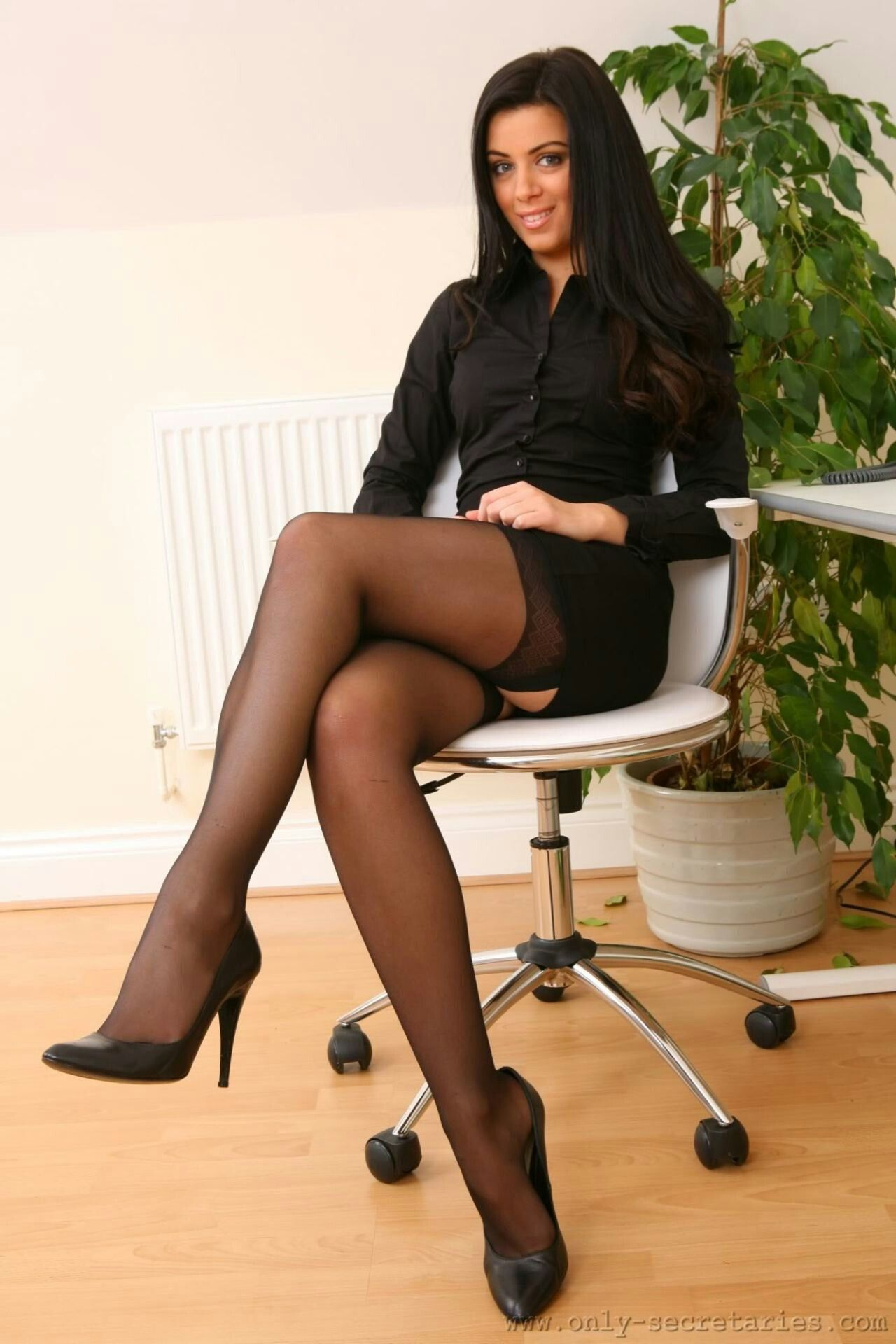 Are Sexy legs in stockings and heels remarkable, very