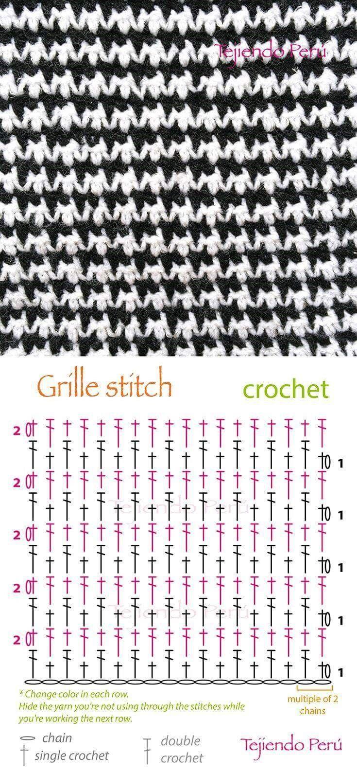 단조로운 모양으로 떠놓으면 좋은 코바늘 스티치 모음 여러곳에 활용해 보세요^^ 출처 pin
